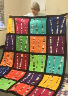 Lisa's modern quilt top
