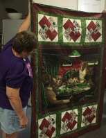Sheila's card trick quilt