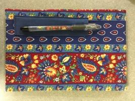 fabric steno pad & pen