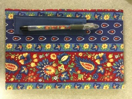 fabric steno pad & pen