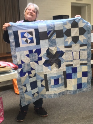 quilt from icy fabrics