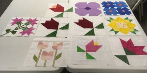 Flower quilt blocks