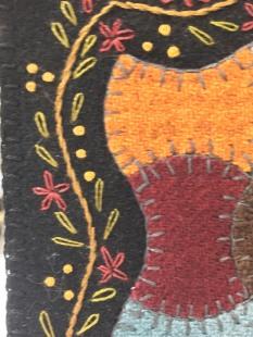mini quilt closeup