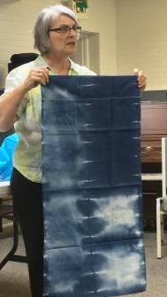 Indigo dyed pillowcase