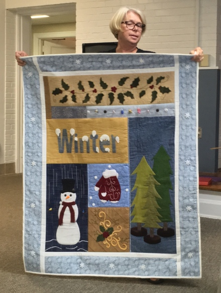 Winter wall hanging