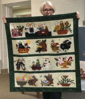 Prize-winning seasons wall hanging