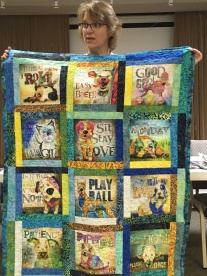 Amy's pet-themed quilt