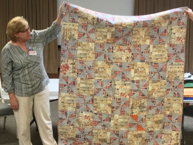 Lisa J's charity quilt