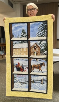 Helen's cathedral windows quilt