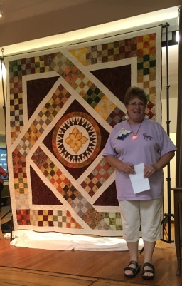 Sheila and raffle quilt
