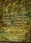 2018 Raffle Quilt label