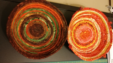 Rope bowls made by Sheila