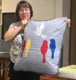 Ann' As Appliqued pillow