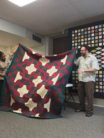 Second quilt made to complement wife's decorating colors
