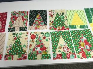 Scrappy Christmas tree blocks
