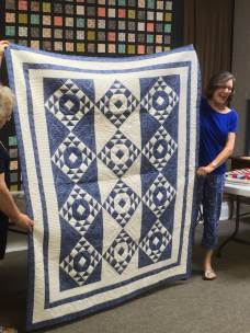 Quilt in which HSTs were made using strip tube ruler