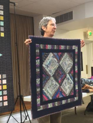 Barbara's wall hanging - completed from donated work