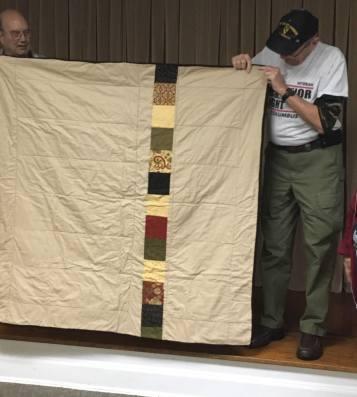 Back of Moda fabric quilt