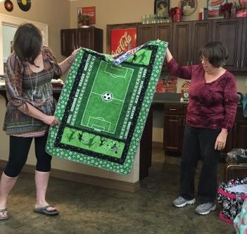 Ann's soccer quilt