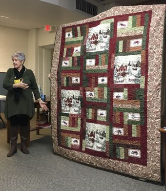 Quilt with winter scenes