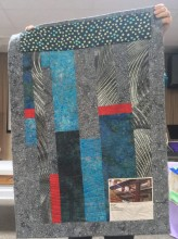 Quilt back with photo