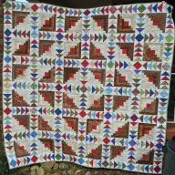 Geese at the Cabin quilt