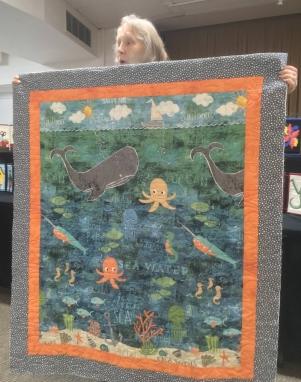 Sea creatures quilt
