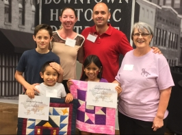 Family receiving quilt