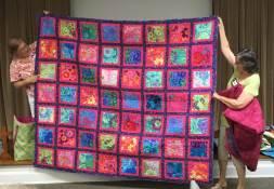 Vernett's colorful quilt