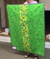 Back of frog quilt