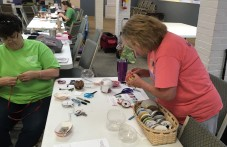 Quilters making ornaments