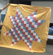 red white and blue star quilt