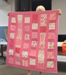 Kid's pink quilt