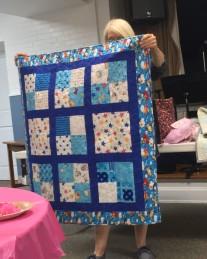 Kid's blue quilt