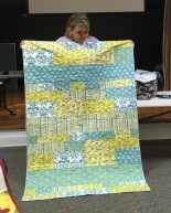blue and yellow kids' quilt