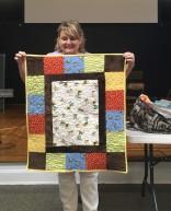 monkey quilt for child