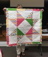 Star quilt for child
