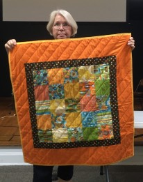 bright colored kids' quilt