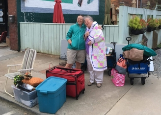 Quilters with bins