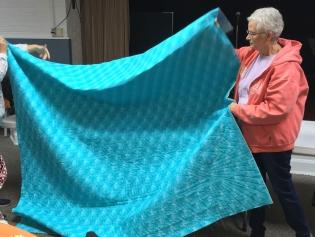 Aqua quilt back