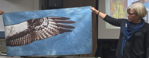 Quilt showing osprey wing