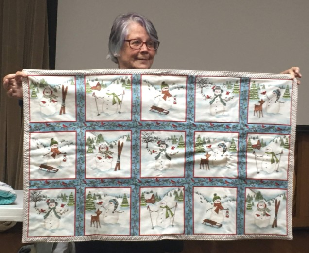 winter themed quilt