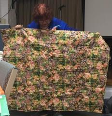 floral quilt back