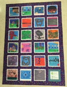 Quilt from artwork by children