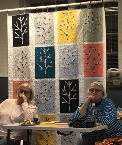 Birch trees raffle quilt