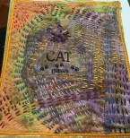 cat paws fabric art