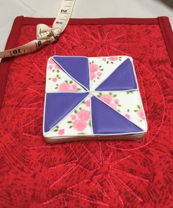 Quilt block cookie