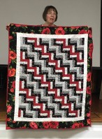red and black quilt
