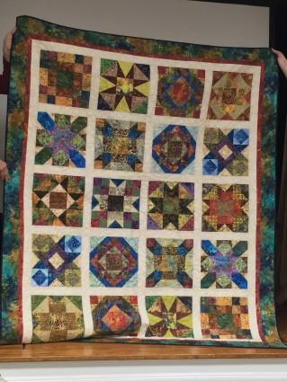 Quilt from batik fabric