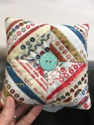 pin cushion from selvages